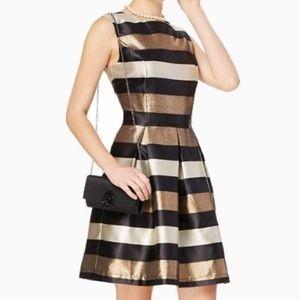 CHARMING CHARLIE metallic striped dress glitter M8